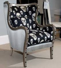 gothic inspired furniture. a traditional frame goes glam and little bit goth in parker southernu0027s updated wing chairaccent on chairs gothic inspired furniture