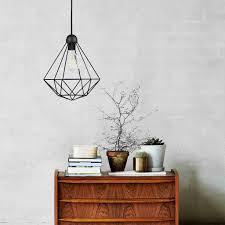 Wire Pendant Light Nordlux Tees Geometric Cage Wire Pendant Light Black Lampsy