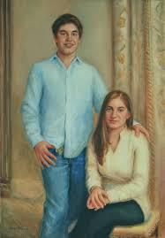 portrait artists family painting of alex and sabrina oil portrait by boston portrait artist
