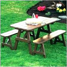 picnic table with umbrella hole outdoor