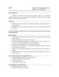 Detailed Resume Beauteous Example Of Resume Objective New Automation Tester Resume Sample New