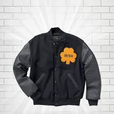 Delong Jacket Size Chart University Of Notre Dame Rudy Irish Jacket
