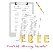 Free Printable Baby Shower Planning Checklist Baby