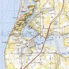Michigan Kalamazoo Lake Saugatuck Douglas Beach Nautical Chart Decor
