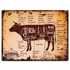 Cow Parts Chart Beef Cuts Amazon Com