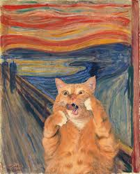 10 famous paintings photoed by a fat orange cat part two ruby lane blog