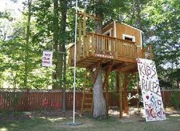how to build a tree house around a backyard fence? - Google Search