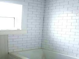 subway tiles bathroom beveled subway tile with black grout exotic white beveled subway tile bathroom all