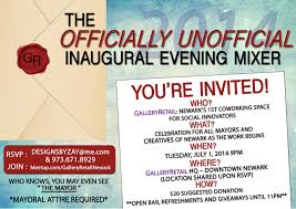 pictures of flyers invite of mayoral inauguration gallery retail to host newark inauguration night mixer brick city live