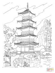 Small Picture Buddhist pagoda in Japan coloring pagegif 9101200 Homeschool