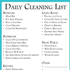 cleaning checklist daily cleaning list to clean every room free printable your