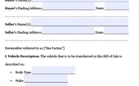 Motor Vehicle Bill Of Sale Form Pdf Bill Of Sale Template Texas Beautiful Free Texas Motor Vehicle Bill