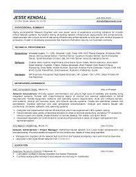 Junior Network Administrator Resume Sample Network Administrator