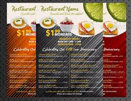 breakfast menu template 30 food menus templates for café and restaurants ginva