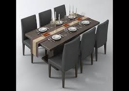 brilliant dining table and chairs 3d model free dining room decor free dining room chairs plan