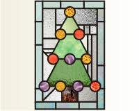 Christmas Stained Glass Patterns Mesmerizing Christmas Prairie christmas tree 48 prairie style stained glass
