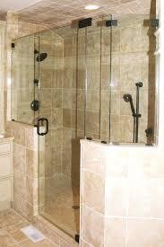 half wall shower glass shower doors glass shower wall panels ireland