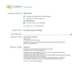European Format Resume Resume For Study