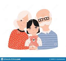 Grandma Grandpa Stock Illustrations 3632 Grandma Grandpa Stock
