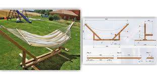 outdoor hammock stand plans designs