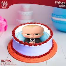 Boss Baby Digital Picture Cake
