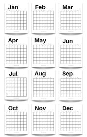Calendar To Fill In Free Printable Modern Minimalist Fill In Calendar Use For