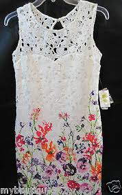 As You Wish Sleeveless Floral Eyelet Above The Knee Dress