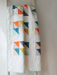 Best 25+ Modern baby quilts ideas on Pinterest | Baby quilt ... & Custom modern baby quilt--bright geometric design Adamdwight.com
