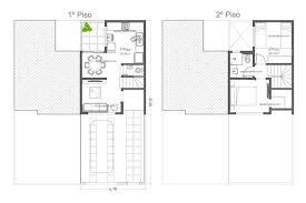 Planta de casas | planta de sobrado geminado, 5m de frente, 3 quartos e varanda gourmet. Planta De Casa De Vila Sobrado Geminado Aquiprojetos