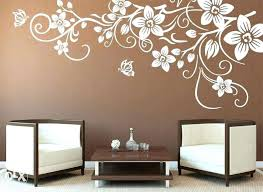 full size of stylish flower wall stencils for painting ideas drawing room paint colour techniques pictures