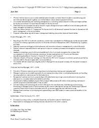 Sample Resume For Sales And Marketing Sales And Marketing Resumes ...