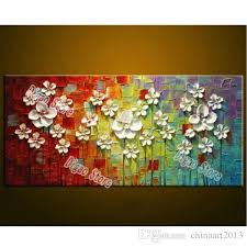 2018 elegant modern simple flowers canvas painting pure hand painted oil painting home living room wall art decoration from chinaart2016 47 74 dhgate