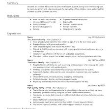 Guidelines For Resume Best Professional Nanny Resume Sample Example Download Examples Maker