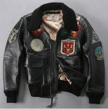 2019 u s pilot jacket plus size fur collar badge leather er jacket men black winter leather coat men avirex fly from yabsera 399 88 dhgate com
