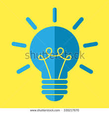vector square blue icon lighting bulb. light bulb vector icon square blue lighting