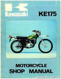 ke175 service manual 1976 kawasaki ke175b1 repair manuals online 1976 kawasaki ke175b1 official factory service manual