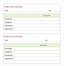 Petty Cash Receipt Template New 48 Cash Receipt Templates Free Samples Examples Format