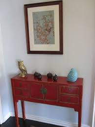 cheap entryway table. Interesting Small Foyer Table Designs. Retro Red Design Features Cheap Entryway