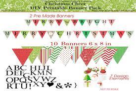 Christmas Cheer Diy Printable Banner Pack Pack