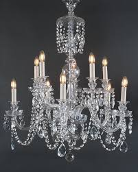 10 branch bohemian antique crystal chandelier antique lighting
