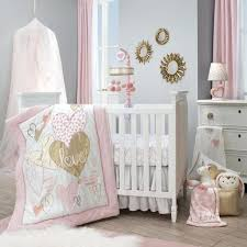 pink and grey crib bedding lambs ivy 4 piece baby crib bedding set pink gold white pink and grey crib bedding