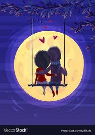 moon romantic night vector image