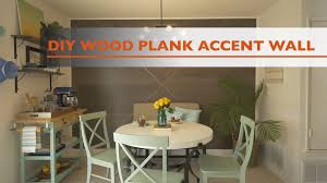 wall decor for dining room lovely diy wood plank accent wall