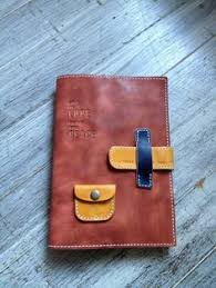 journal cover with tiny pocket 手染めレザースケジュール帳