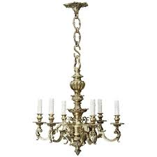 cast bronze baroque chandelier with chain and canopy for