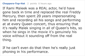 someone calls out rami malek for lip