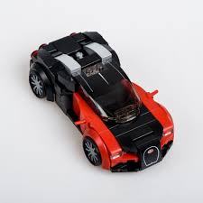 The grille and the (british) number plates are custom decals. Bugatti Veyron 16 4 Bugatti Veyron Lego Speed Champions Veyron
