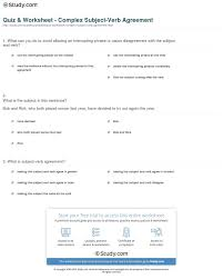 Subject Verb Agreement Worksheet Answer Key Free Worksheets Middle ...