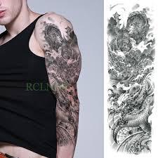 водонепроницаемая временная татуировка наклейка дракон китайский стиль пагода
