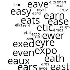 four letter words that start with e